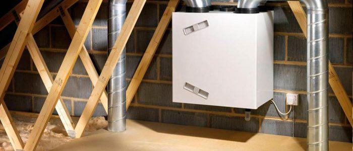 Расположение вентиляционной установки в частном доме